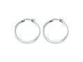 Chisel Stainless Steel 30 mm Diameter Hoop Earrings