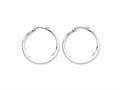 Chisel Stainless Steel 30mm Diameter Hoop Earrings