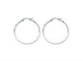 Chisel Stainless Steel 35mm Diameter Hoop Earrings