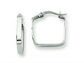 Chisel Stainless Steel 20mm Sqaure Hoop Earrings