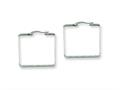 Chisel Stainless Steel 30mm Square Hoop Earrings