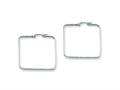 Chisel Stainless Steel 40mm Square Hoop Earrings