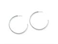 Chisel Stainless Steel 40mm Diameter J Hoop Post Earrings