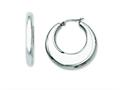 Chisel Stainless Steel 35mm Hollow Hoop Earrings