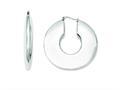 Chisel Stainless Steel Hollow Hoop Earrings
