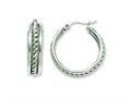 Chisel Stainless Steel 20mm Twisted Middle Hoop Earrings