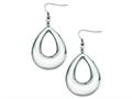 Chisel Stainless Steel Hollow Teardrop Dangle Earrings