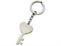 Chisel Stainless Steel Polished Key With Heart Key Ring