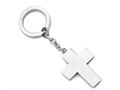 Chisel Stainless Steel Polished Cross Key Ring
