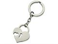 Chisel Stainless Steel Polished Heart-shaped Lock Key Ring