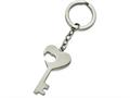 Chisel Stainless Steel Polished Key With Heart Cut-out Key Ring