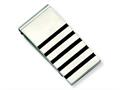 Chisel Stainless Steel Brushed W/rubber Accents Money Clip