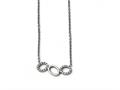 Chisel Stainless Steel Polished Cz Necklace