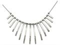 Chisel Stainless Steel Polished Bars And Beads W/2in Ext. Necklace