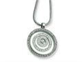 Chisel Stainless Steel CZ Circle Pendant Necklace - 18 inches