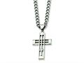 Chisel Stainless Steel Cross Pendant Necklace - 22 inches