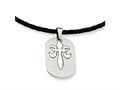 Chisel Stainless Steel Fleur De Lis Pendant Necklace - 18 inches