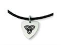 Chisel Stainless Steel Enameled Trinity Pendant Necklace - 18 inches