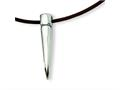 Chisel Stainelss Steel Italian Horn Pendant Necklace - 18 inches