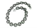 Chisel Stainless Steel Fancy Link Necklace - 22 inches