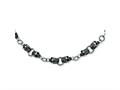 Chisel Stainlesss Steel Skull Necklace - 24 inches