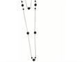 Chisel Stainless Steel Ip Black-plated Beads Draped 36in Necklace