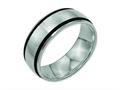 Chisel Titanium Black Rubber 8mm Brushed Weeding Band