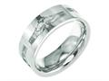 Chisel Titanium Flat 8mm Laser Design Polished Weeding Band