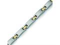 Chisel Titanium Yellow Plated Bracelet - 8.5 inches