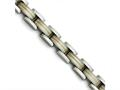 Chisel Titanium/14k Inlay Polished/matte Bracelet