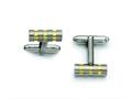 Chisel Titanium Gold Accent Cuff Links
