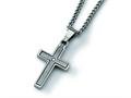 Chisel Titanium Diamond Accent Cross Necklace - 22 inches