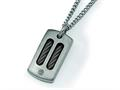 Chisel Titanium Black Plating Necklace - 22 inches