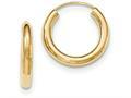 14k Polished Endless Tube Hoop Earrings