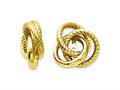 14k Polished and Twisted Love Knot Earring Jackets