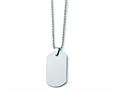 Chisel Tungsten Polished Dog Tag Necklace - 22 inches