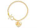 Disney 7.5inch Mickey Heart Charm Bracelet