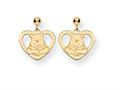 Disney Winnie the Pooh Heart Dangle Post Earrings