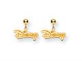 Disney Disney Logo Dangle Post Earrings