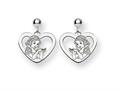 Disney Snow White Heart Dangle Post Earrin