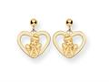 Disney Cinderella Heart Dangle Post Earrin