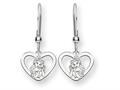 Disney Belle Heart Dangle Wire Earrings
