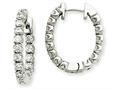14kw Diamond Hinged Hoop Earring Mountings