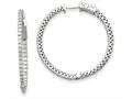 14k White Gold Round Hoop W/saftey Clasp Earring Mountings