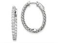 14k White Gold Oval Hoop W/saftey Clasp Earring Mountings