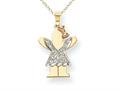The Kids® 0.15cttw Diamond kid Charm / Pendant