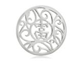 Nikki Lissoni Silver- Tone 33mm Chinese Lucky Coin style: C1000SM