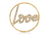 Nikki Lissoni Gold-tone 33mm Clear Swarovski® Sparkling Love Coin style: C1003GM