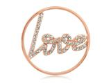 Nikki Lissoni Rose-tone 33mm Clear Swarovski® Sparkling Love Coin style: C1003RGM