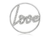 Nikki Lissoni Silver-tone 33mm Clear Swarovski® Sparkling Love Coin style: C1003SM